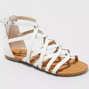 Freya Metallic Gladiator Sandals